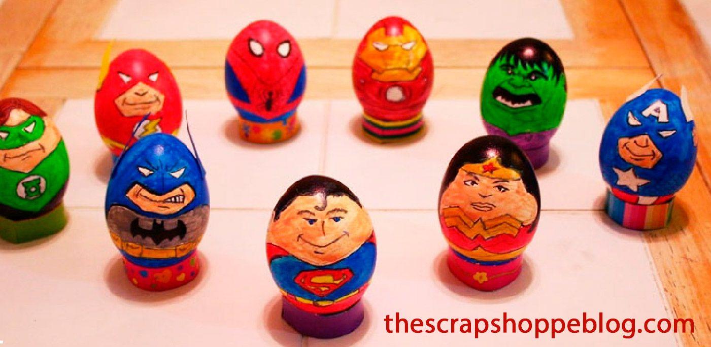 Huevos de pascua super heroes, actividades pascua niños | Huevos de ...