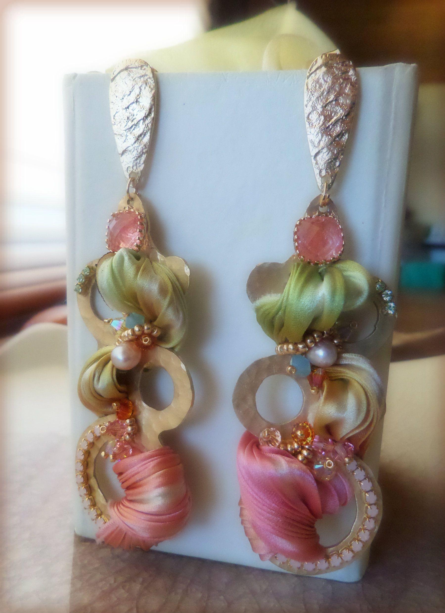 1e764daee5ff EARRINGS with shibori silk --- design by Serena Di Mercione