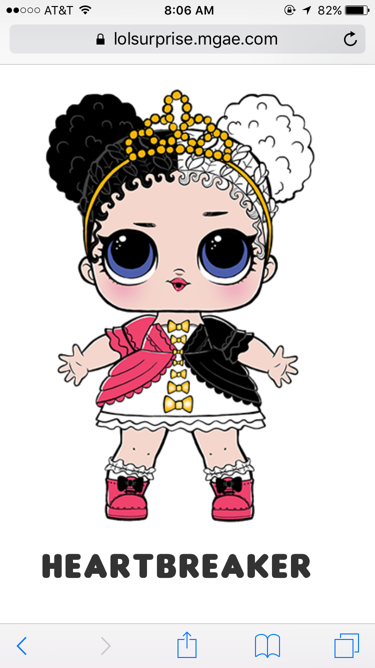 Heartbreaker party themes cute lol dolls design sticker needlework kawaii