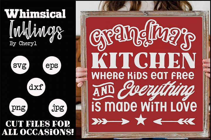 Download Made With Love-Grandmas Kitchen SVG   How to make signs ...