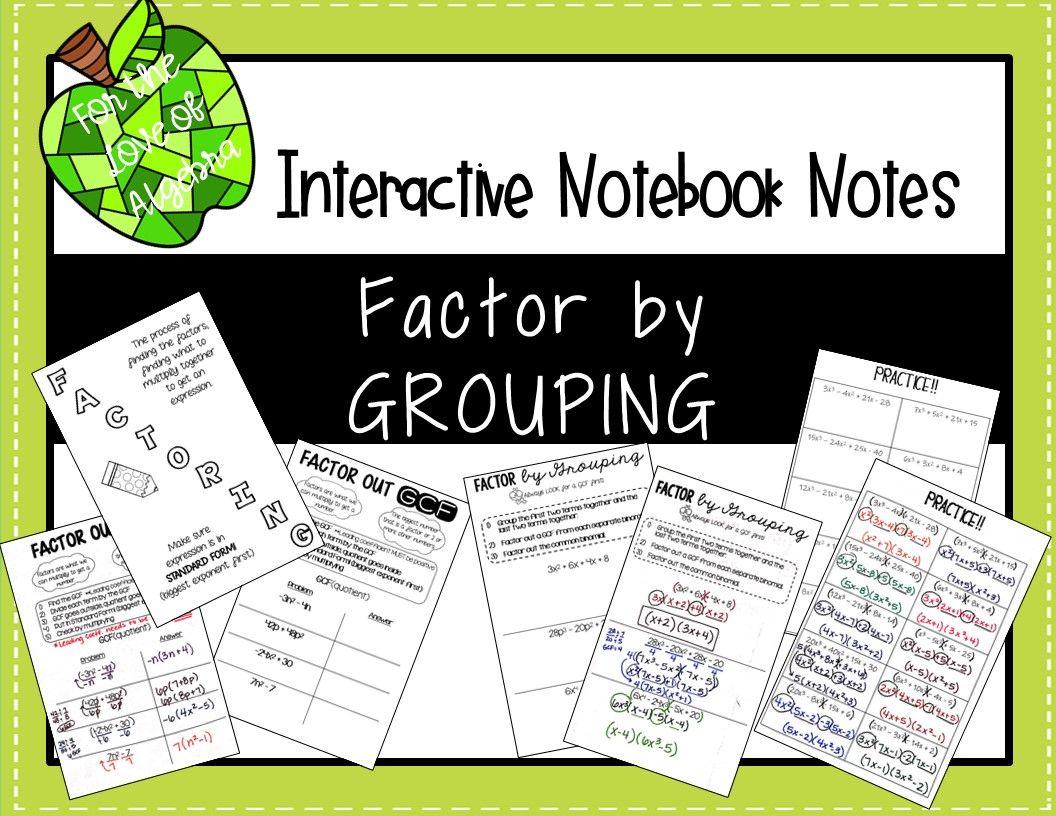 Factor by GROUPING (GSE Algebra 1 & 2) Algebra, Algebra