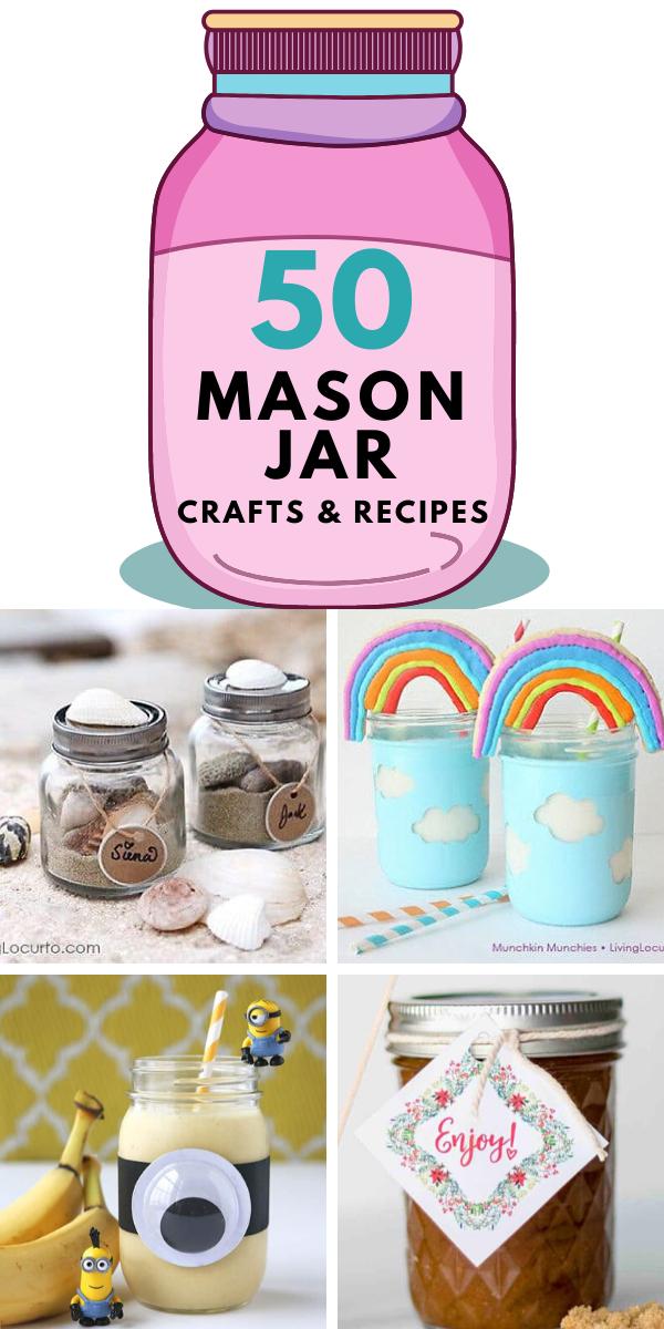 50 Mason Jar Crafts And Recipes In 2020 Mason Jar Crafts Jar Crafts Easy Mason Jar Crafts