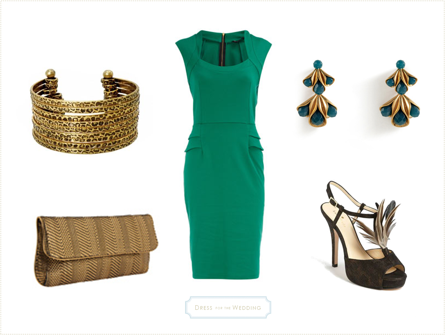 Emerald Green Dress | Emerald green dresses, Emeralds and Gold