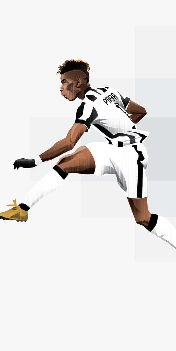 Paul Pogba Commission On Behance Soccer Art Football Art Football Illustration