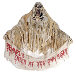 Mummy Hanging Banner   Hanging Props Props and Decor   HalloweenMart