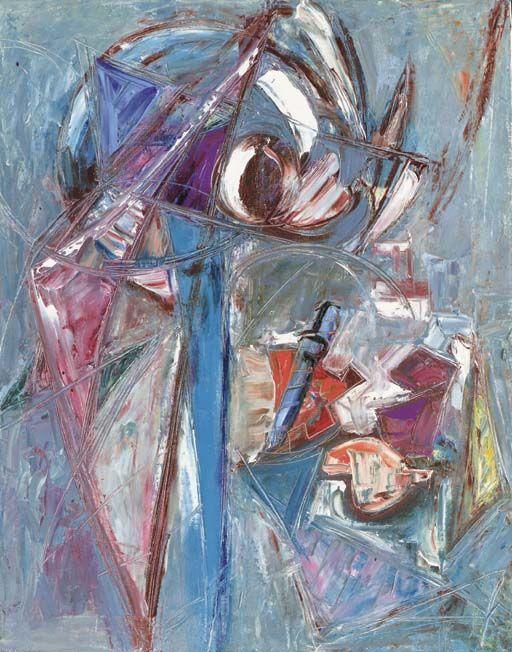 Lee Krasner (1908-1984),  Image Surfacing,  ca 1944,  oil on canvas  27 x 21¼ in.