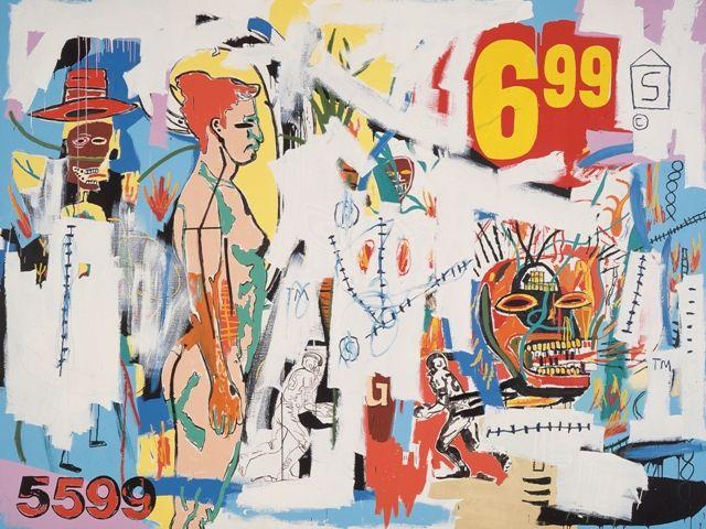 Jean-Michel Basquiat y Andy Warhol 6.99 (1985). Colección Bischofberger,  Suiza | Andy warhol, Jean michel basquiat, Art pop