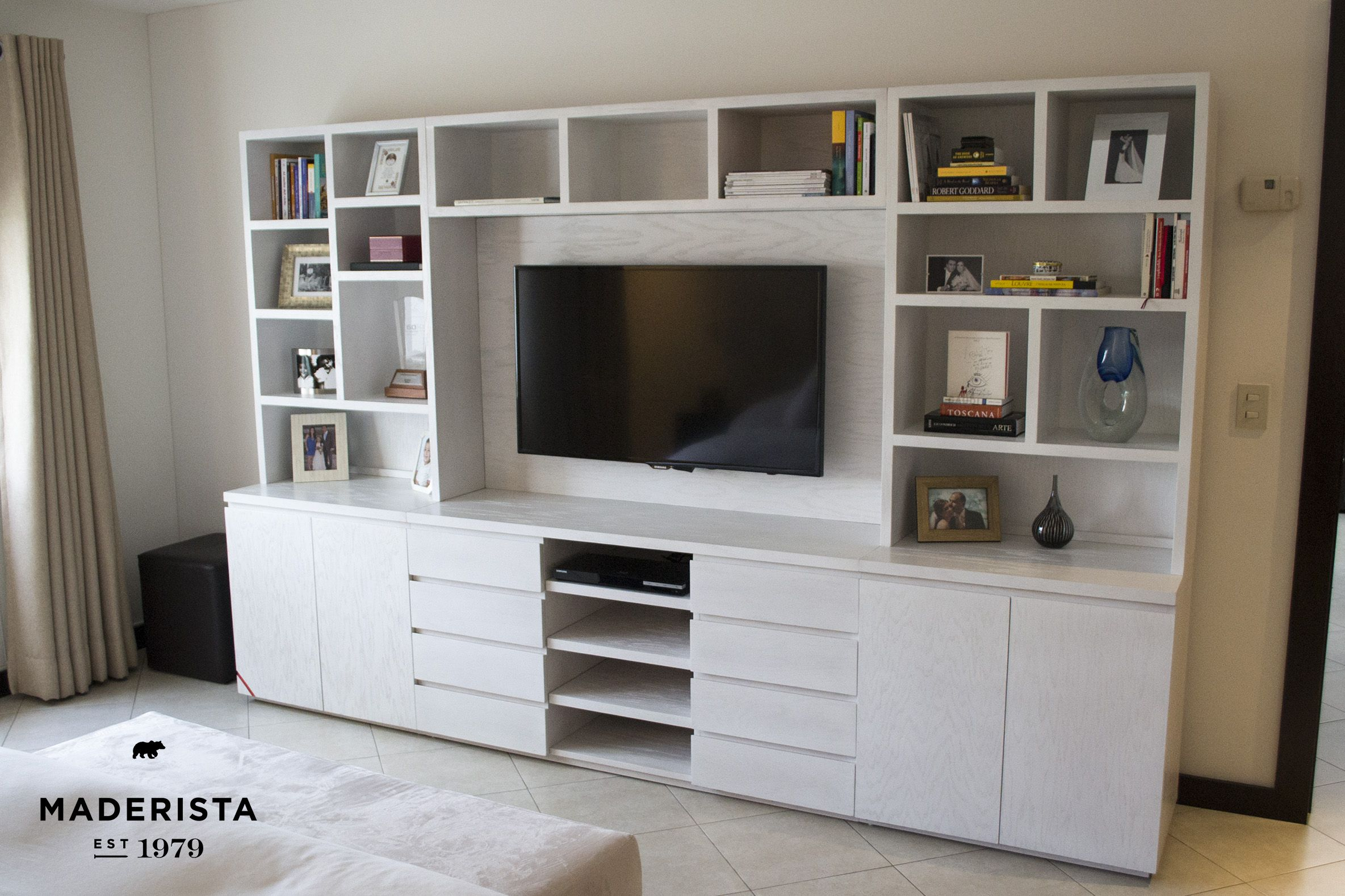 Mueble De Tv Para Recamara By Maderista Muebles By Maderista  # Muebles Suspendidos Para Tv
