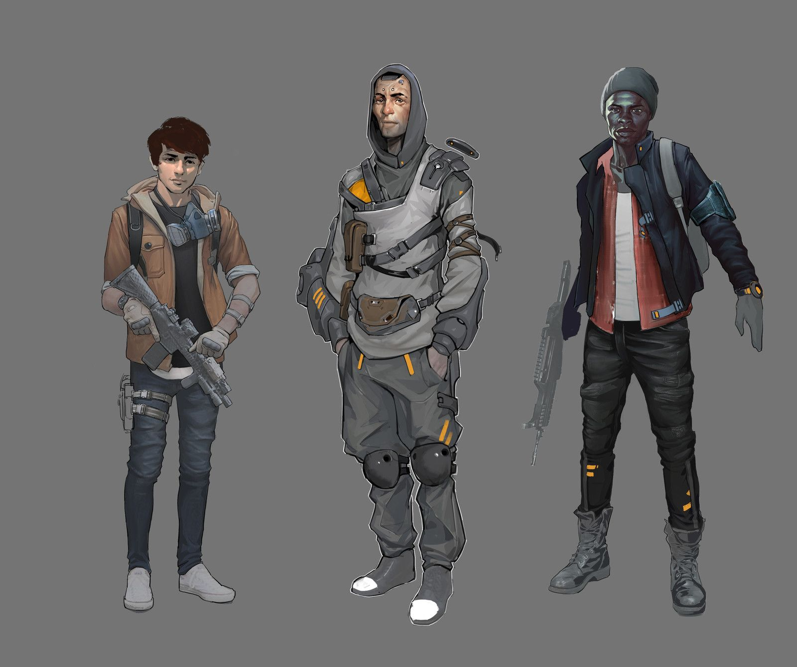 Survivors sketches, Aleksey Scherbakov on ArtStation at https://www.artstation.com/artwork/4lRwq