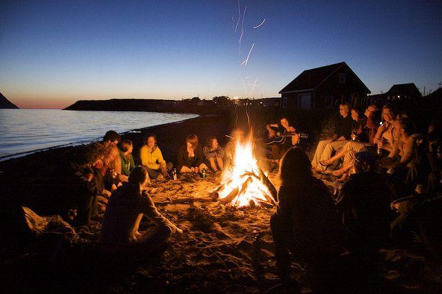 Beach Bonfire in Newfoundland | Beach night, Beach bonfire, Bonfire
