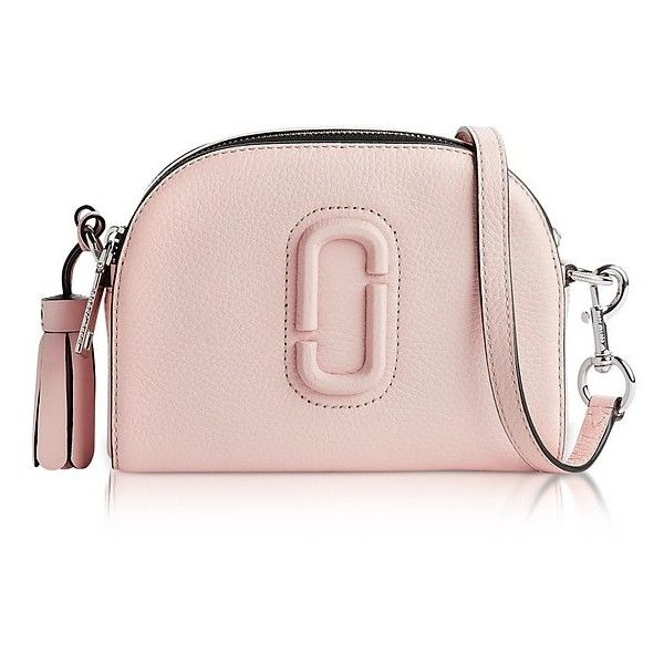 0251e6a7865f Marc Jacobs Shutter Pale Pink Leather Small Camera Bag (520 CAD) ❤ liked on  Polyvore featuring accessories