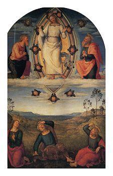 Perugino - La Pala della Trasfigurazione è un dipinto a olio su tavola (290x185 cm) di Pietro Perugino, databile al 1517 e conservato nella Galleria nazionale dell'Umbria a Perugia.