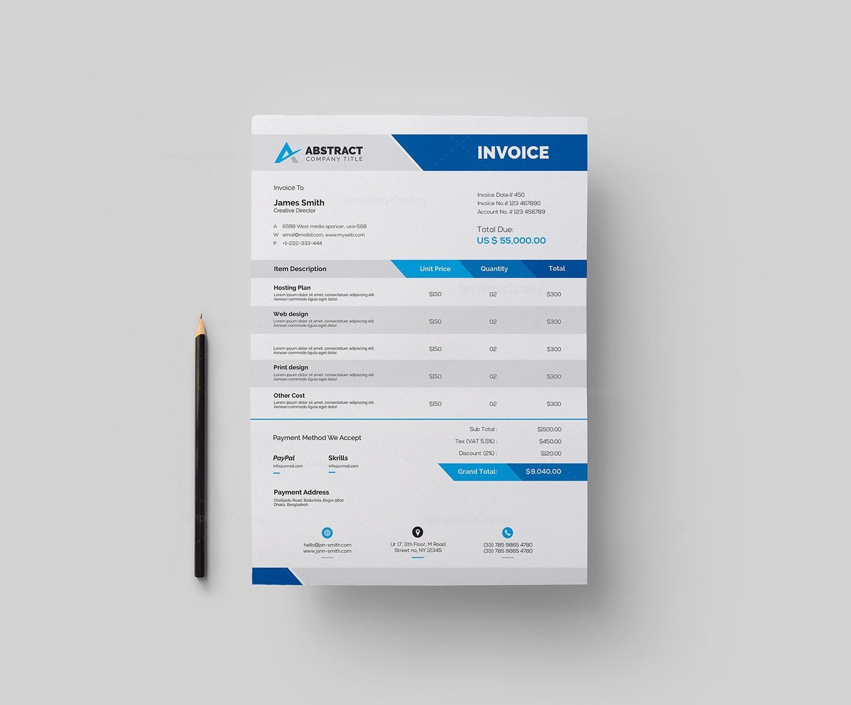 Psd Invoice Template 000331