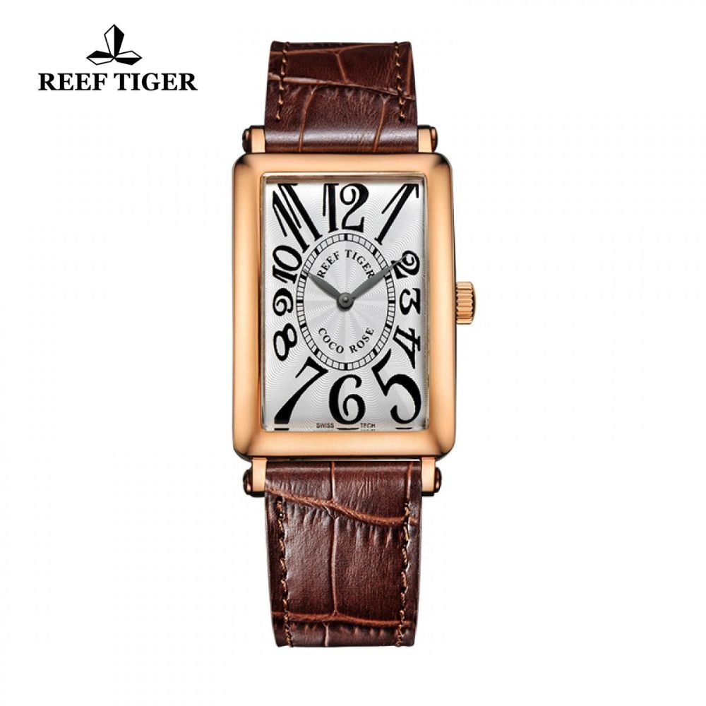 men gold white watches walmart dial watch face rectangular s rectangle ip seiko com band leather