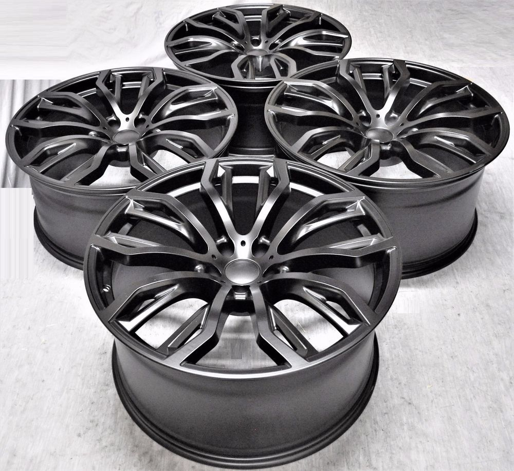 "20"" BMW X6M STYLE BLACK STAGGERED WHEELS RIMS FIT BMW X5"