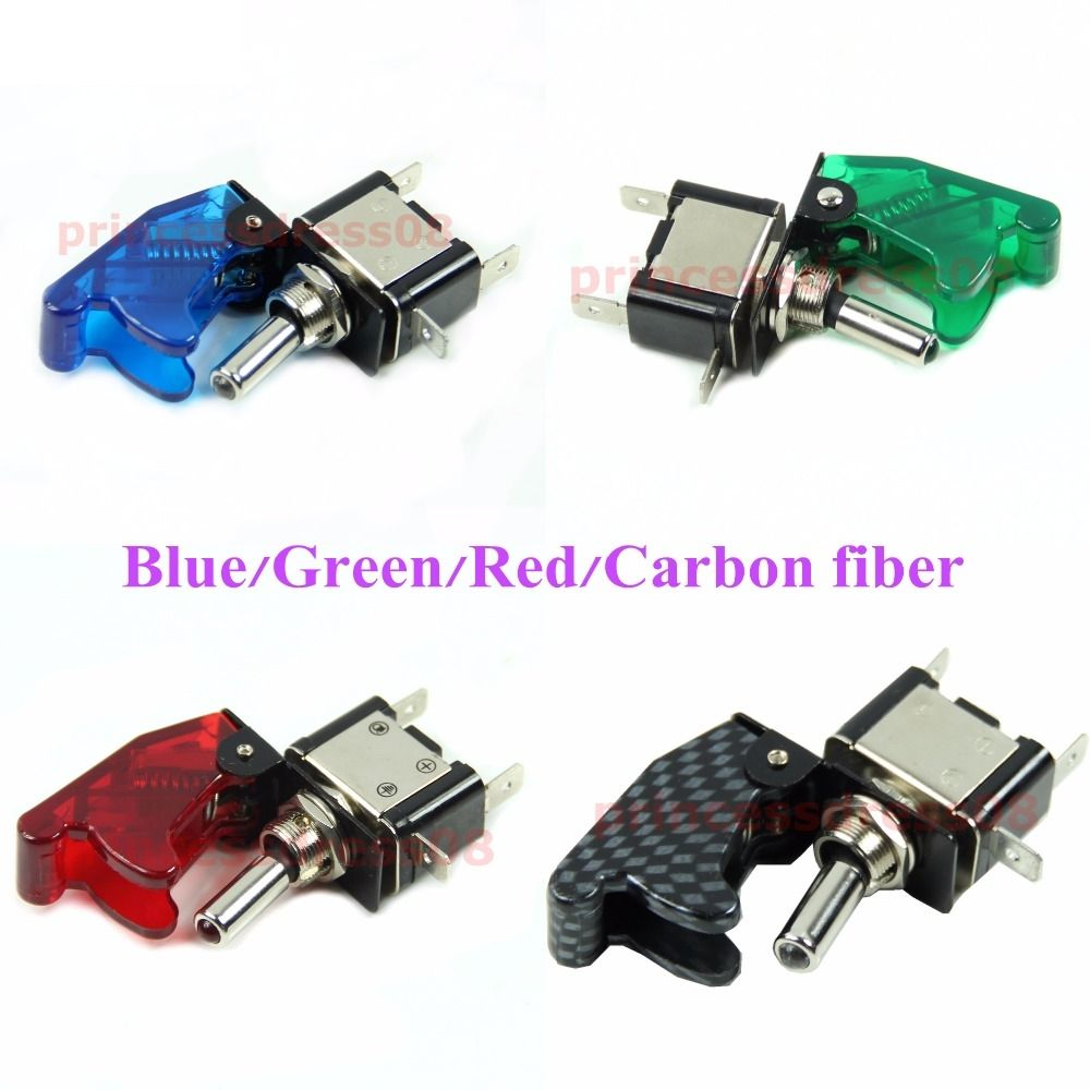 1PC 12V Car Racing On Off Aircraft Type LED Toggle Switch