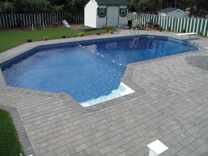 Grecian Lazy L Pool Designs Backyard Pool Designs Pool