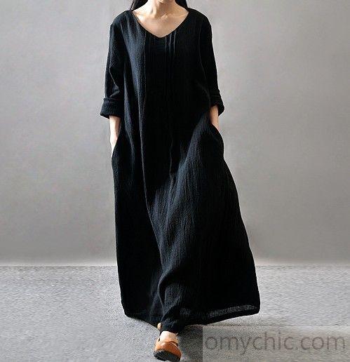 Long Black Spring Dresses