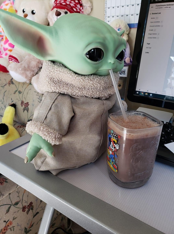Choccy Milk Yoda : choccy, Choccy, Baby,, Yoda,, Wallpaper