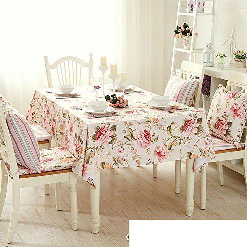 Tre European Garden Fl Stripe Table, Small Round Garden Table Cover