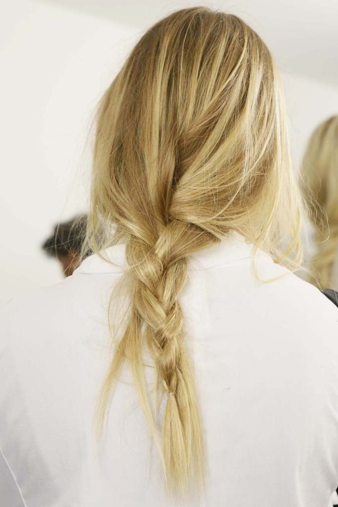 Backstage at Michael Kors Spring 2015 #loosebraids