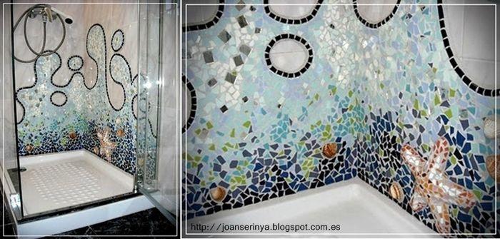 Trencadis, rivestimento bagno tipico spagnolo  Ma future salle de douche  Pinterest  Mosaic ...