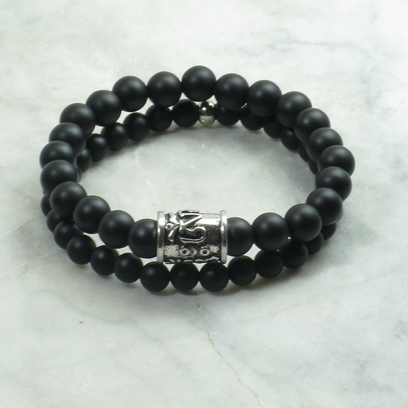 Pin By Salt Spring Malas Yoga Jewelry On Bracelets For Men S Stainless Steel Spiritual Cross Black Beads Bracelet