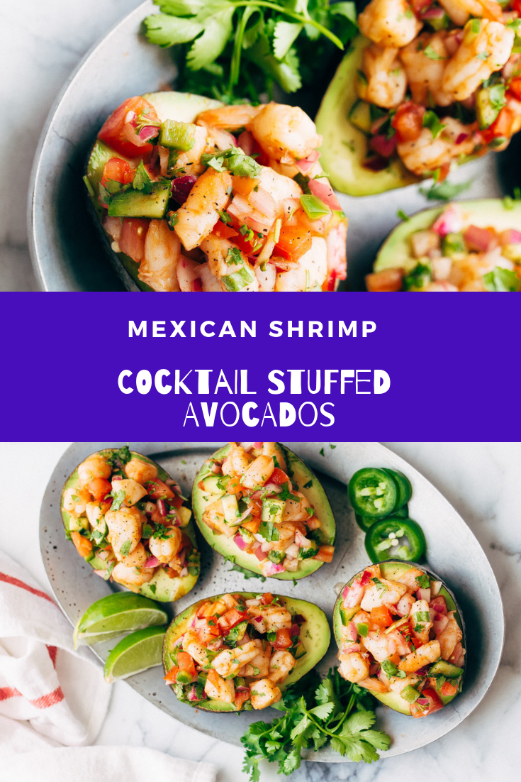 Mexican Shrimp Cocktail Stuffed Avocados Mexicanfoodrecipes Shrimp Shrimprecipes Seafoodrecipes Hea Mexican Shrimp Cocktail Mexican Shrimp Shrimp Cocktail