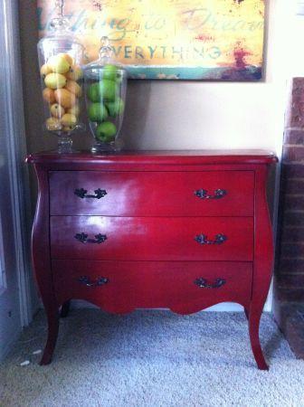 Cute Red Buffet Or Dresser Idea Shabby Chic Dresser Red Dresser