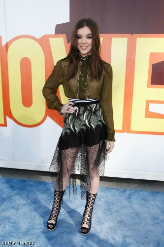 Hailee Steinfeld in a Rodarte blouse, skirt, and shoes