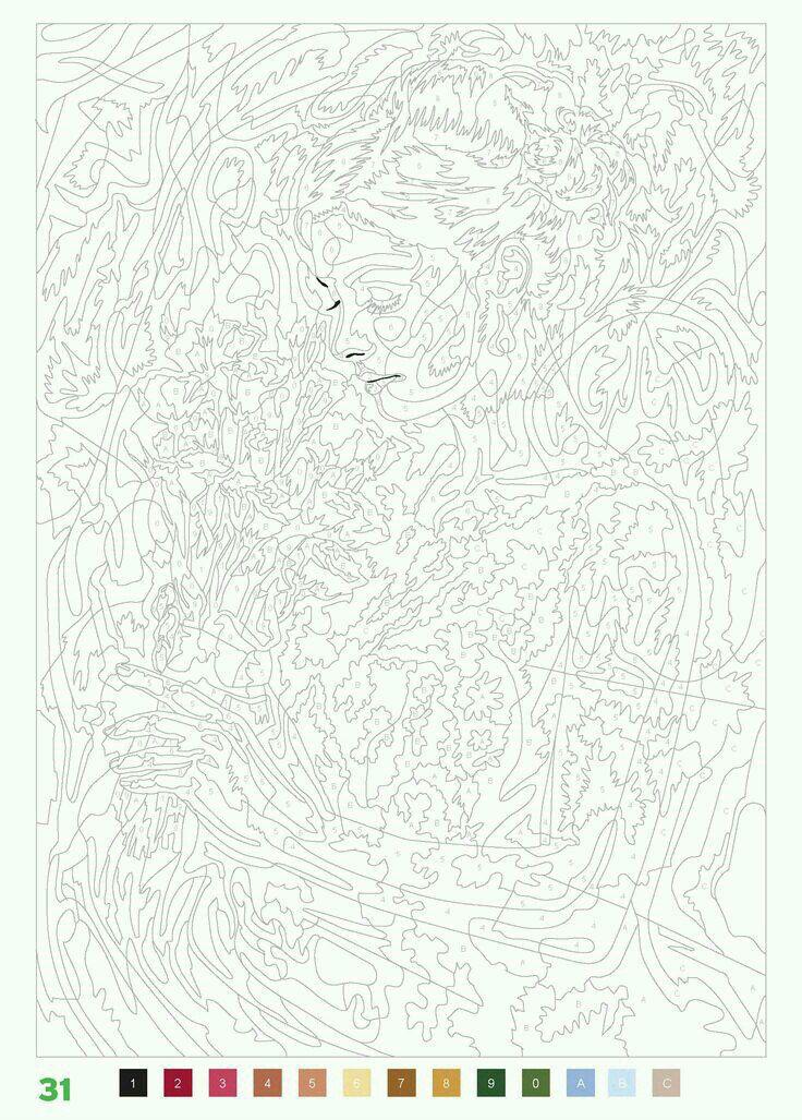 бесплатно раскраски по номерам распечатать | Абстрактные ...