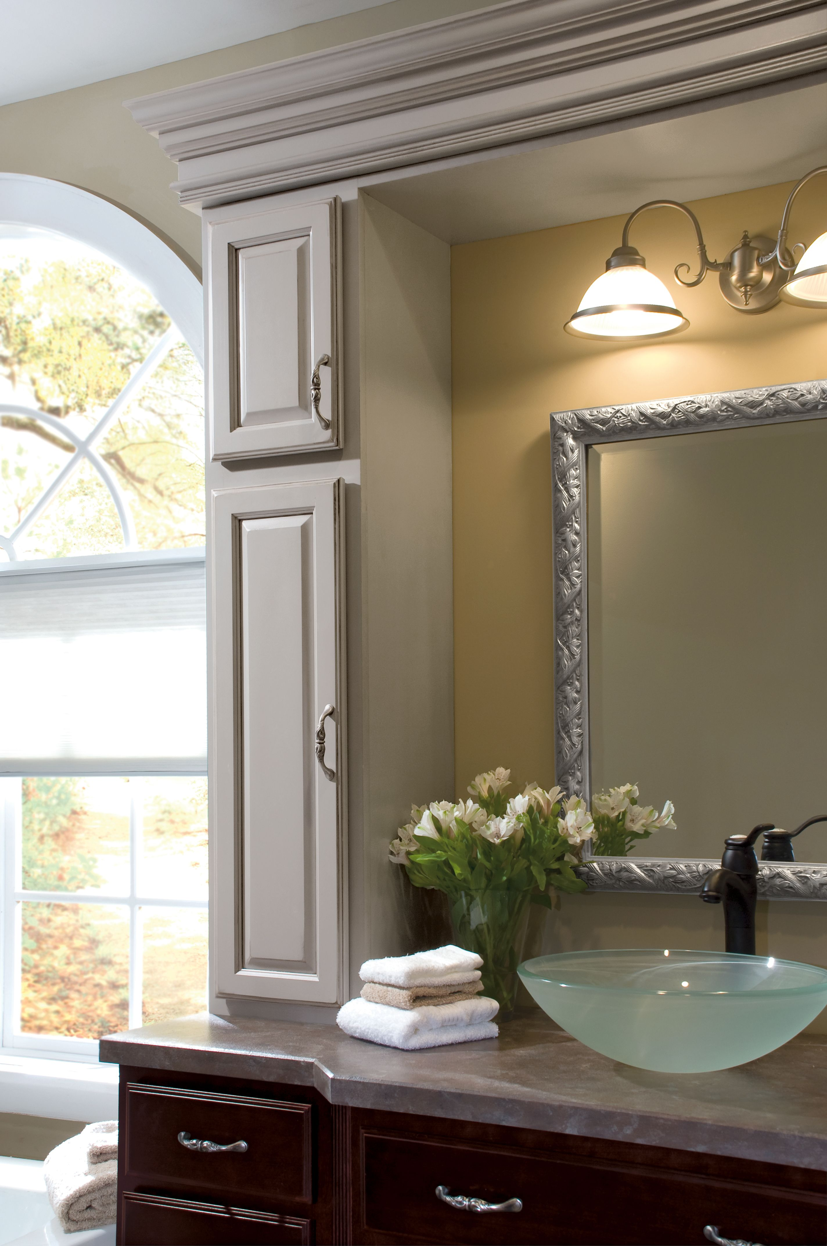 what do you think about this cabinetry by diamond bathroom there is plenty of color contrast in this exquisite room
