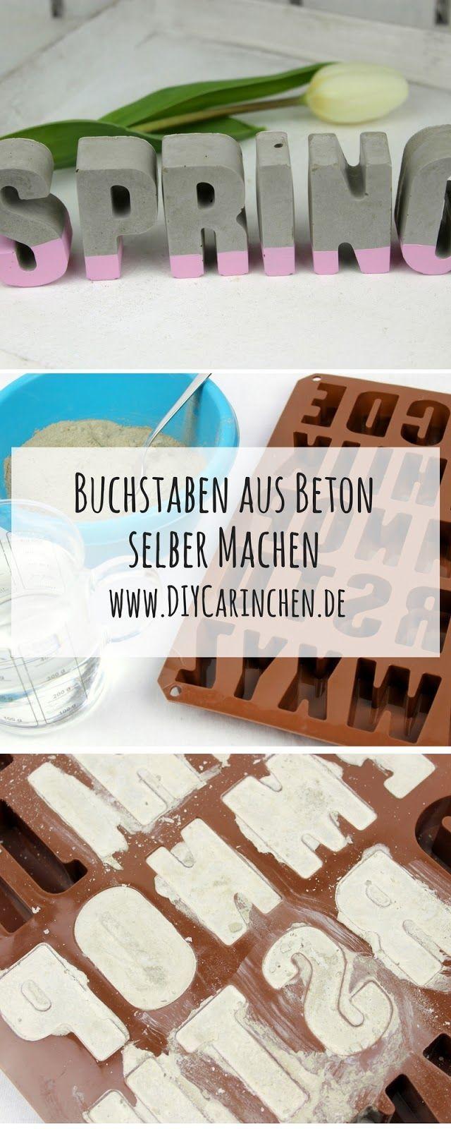 DIY Beton Buchstaben schnell und einfach selber machen - tolle Deko #backyardmakeover