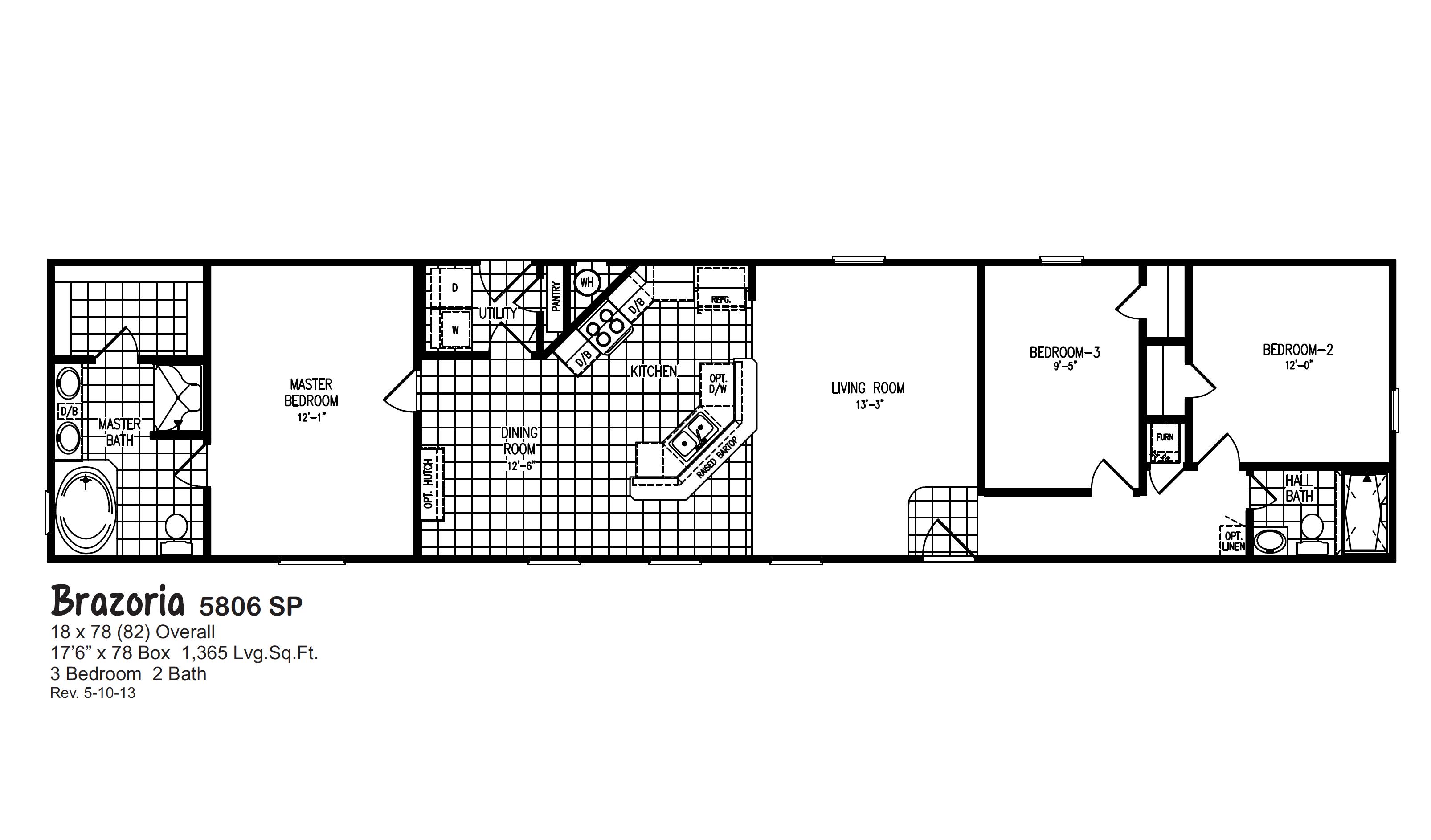 Oak Creek Single Wide Homes Barndominium Floor Plans Mobile Home Floor Plans Bedroom Floor Plans