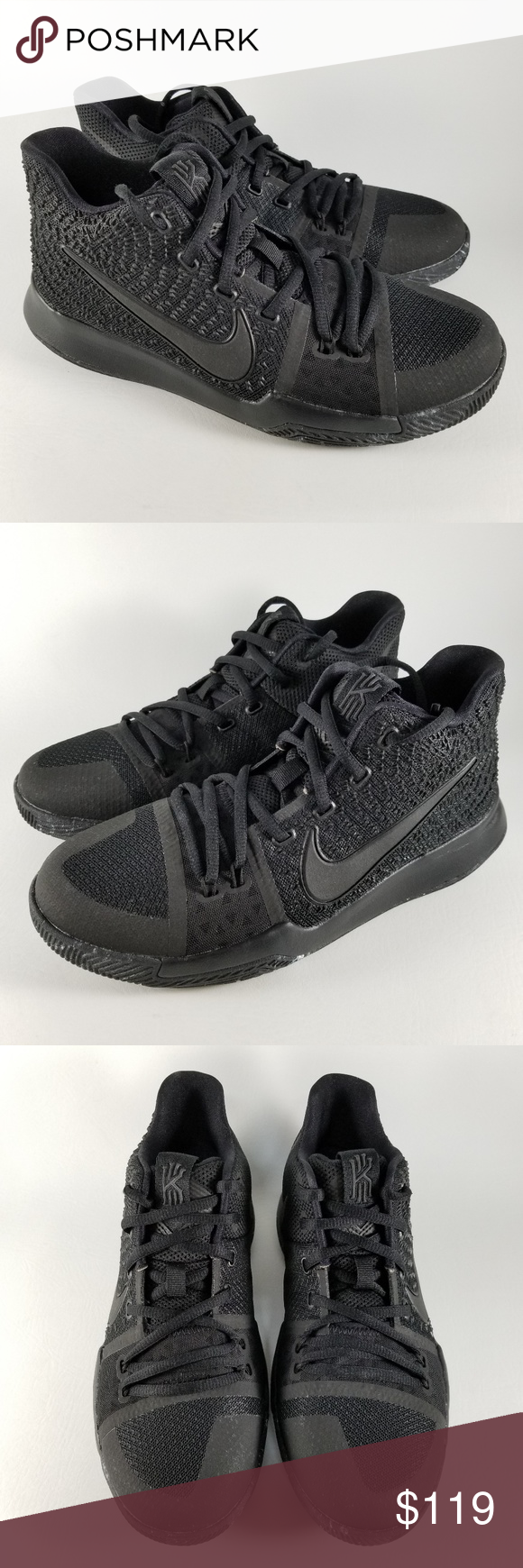Nike Kyrie 3 GS Youth Basketball Shoes Black 6.5Y Nike Kyrie 3 GS  Basketball Shoes Style: 859466-005 Color: Triple Black Size: US Youth 6.5Y  Does not ...