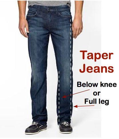 03ebbd9c Taper Jeans Leg | Narrow Legs on Jeans | Bootcut to Straight Leg ...