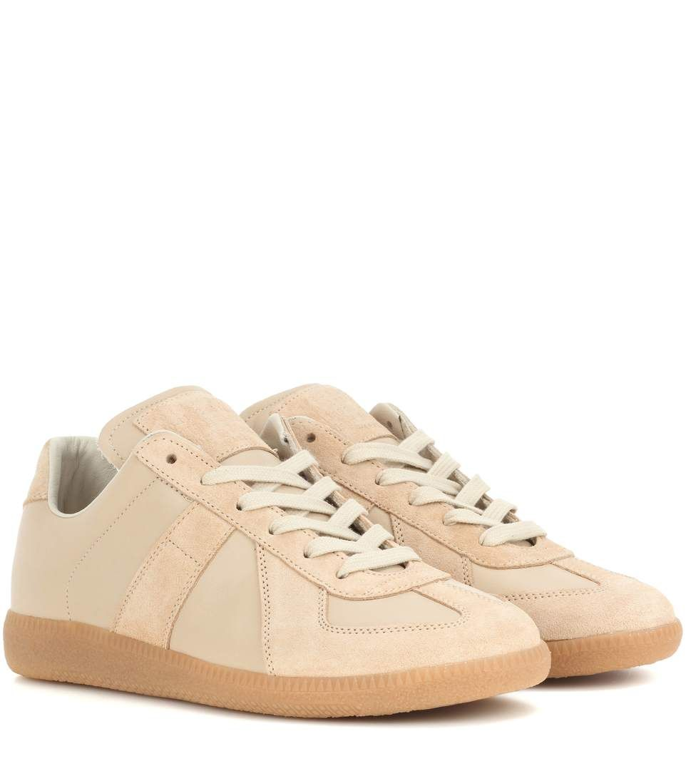 Replica leather and suede sneakers Maison Martin Margiela 1KijHxbe