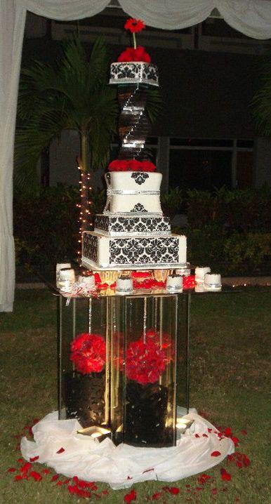 Espectacular base para la torta de bodas