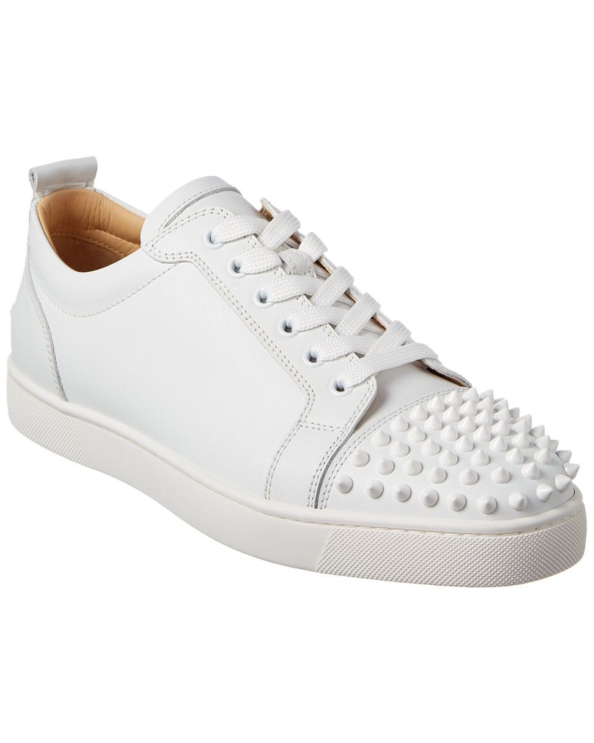d352a4e1ad2 CHRISTIAN LOUBOUTIN LOUIS JUNIOR SPIKES LEATHER SNEAKER.  christianlouboutin   shoes