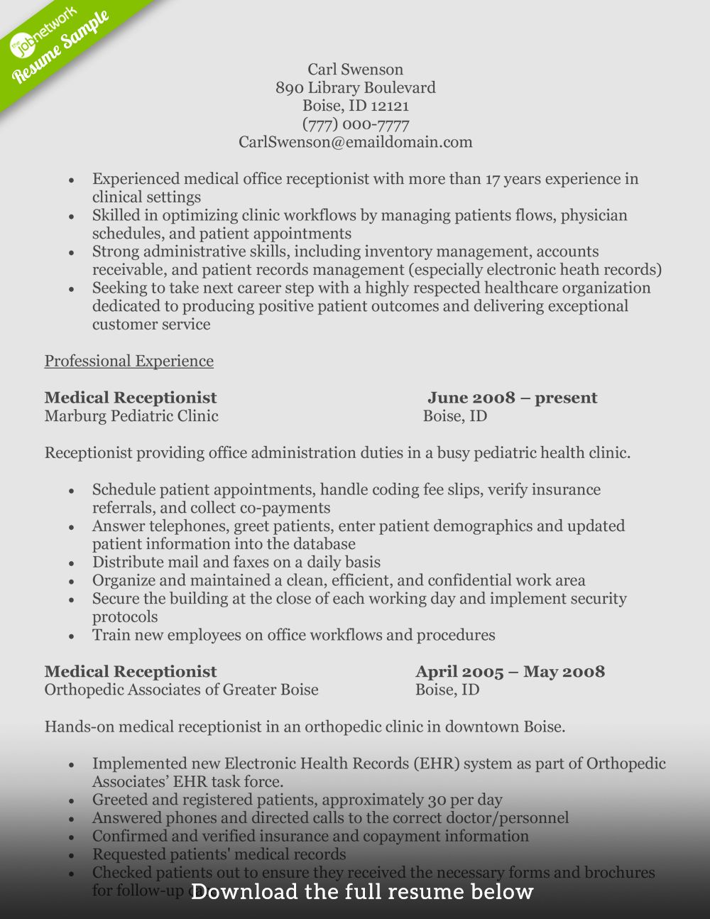 Front Desk Medical Receptionist Resume Beautiful How to