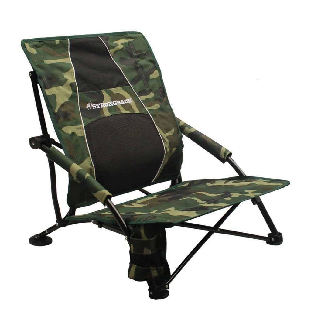 Camping chair ergonomic seat camo lightweight portable for travel
