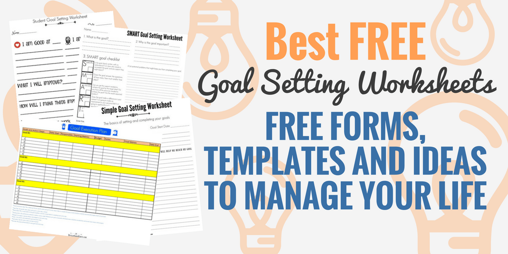 4 Free SMART Goal Setting Worksheets and Templates Goal