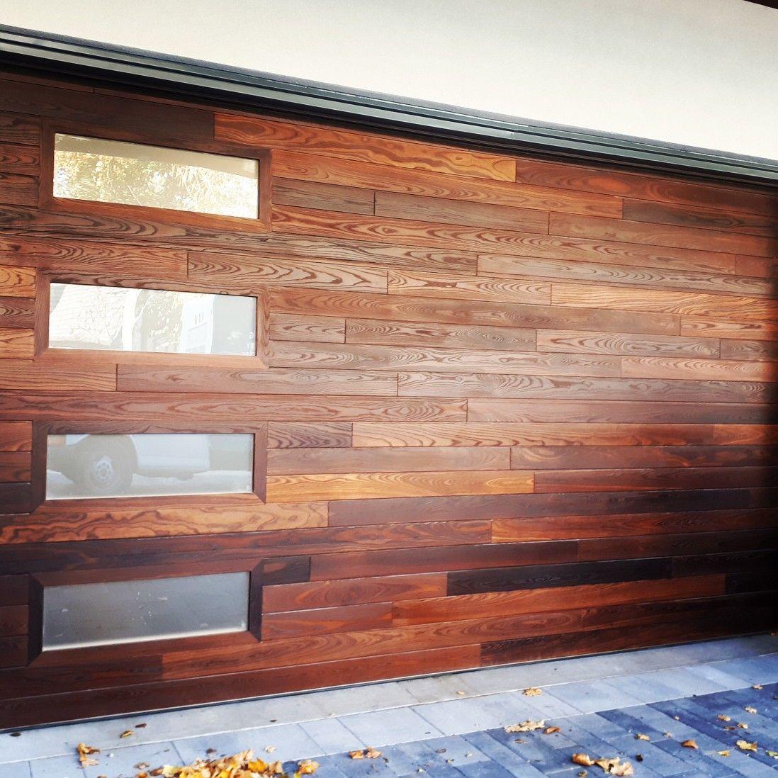 Dressing Up The Garage Door Thermallymodified Wooddoors Garage