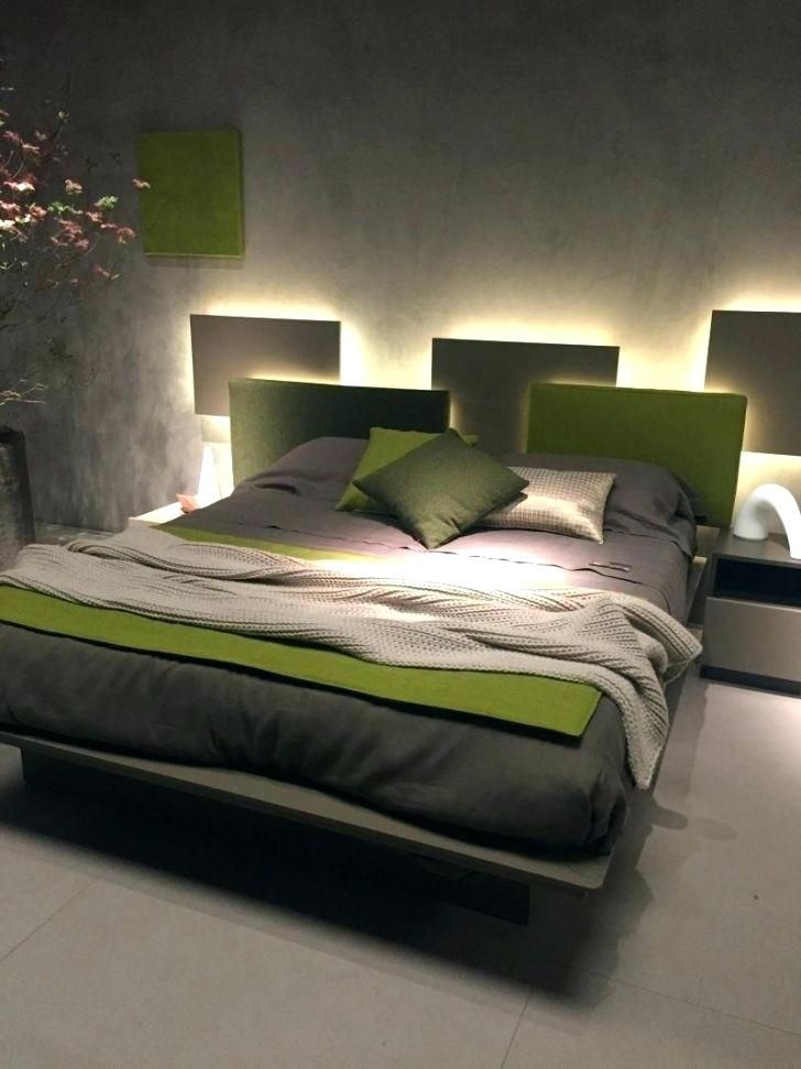 Headboard Ikea Chic Ideas Bed Light Led Lights Pertaining To Diy Pallet Frame And