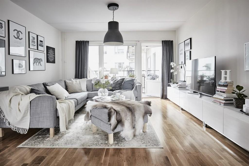 Una casa nórdica de 56 metros cuadrados | Salón, Ideas para y Ideas
