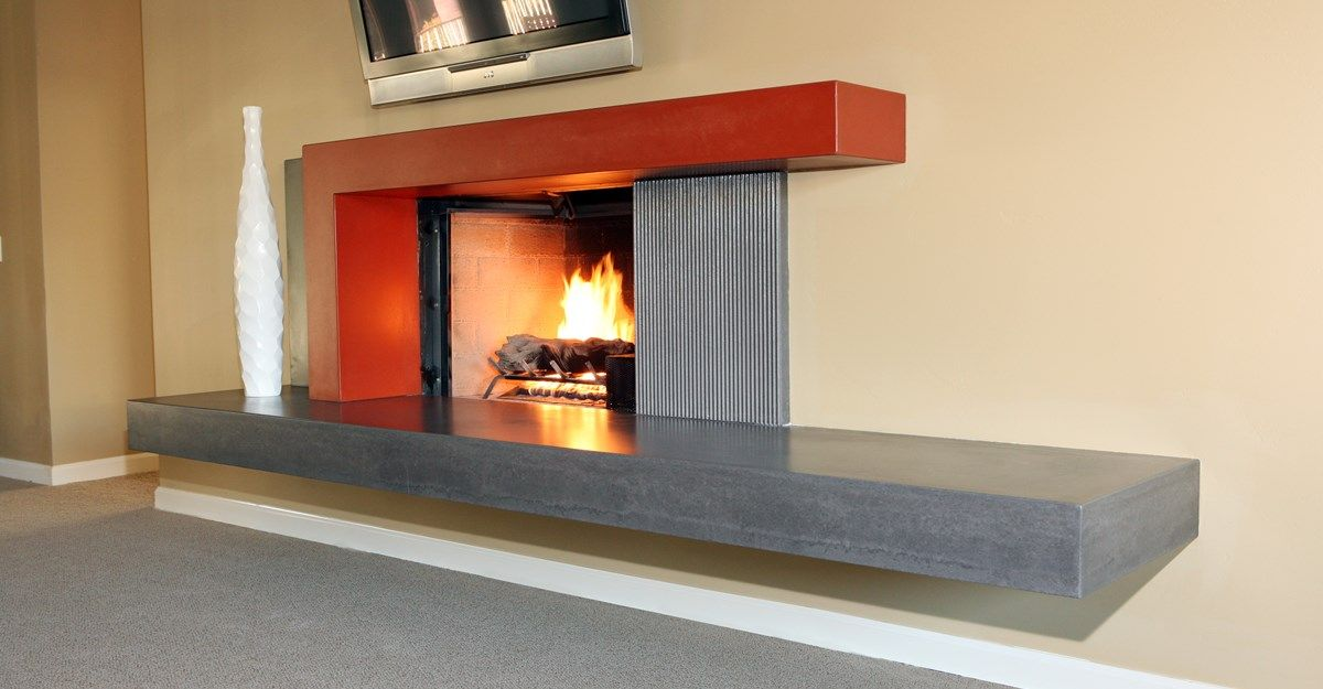 New Age Fireplace Surrounds Pourfolio Custom Concrete San Diego