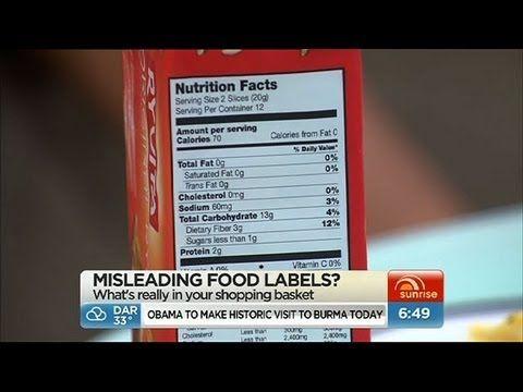 Sunrise Misleading Food Labels Youtube Food Labels Food Food Technology