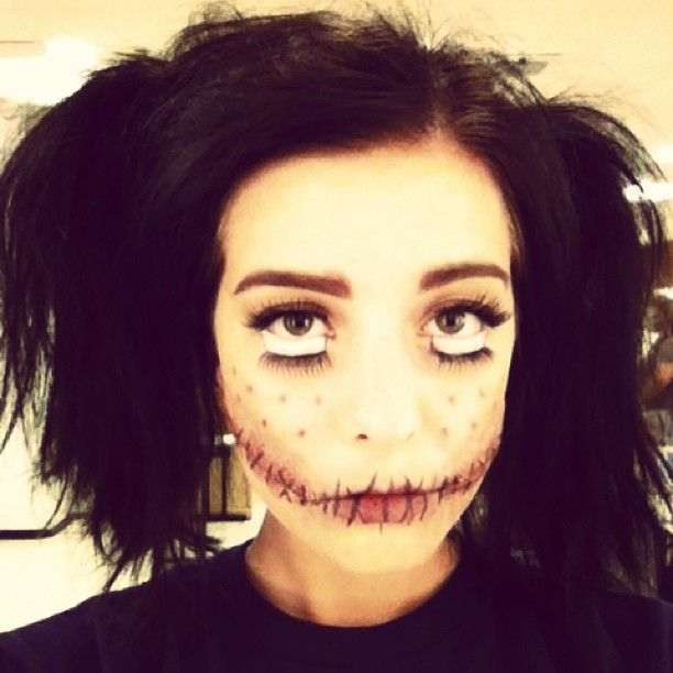 Creepy doll Halloween theater stage makeup. http://nbmakeupartist ...