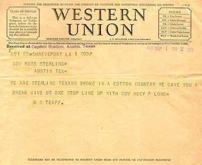 Here S An Actual Western Union Telegram To Give You Idea How It Should Look