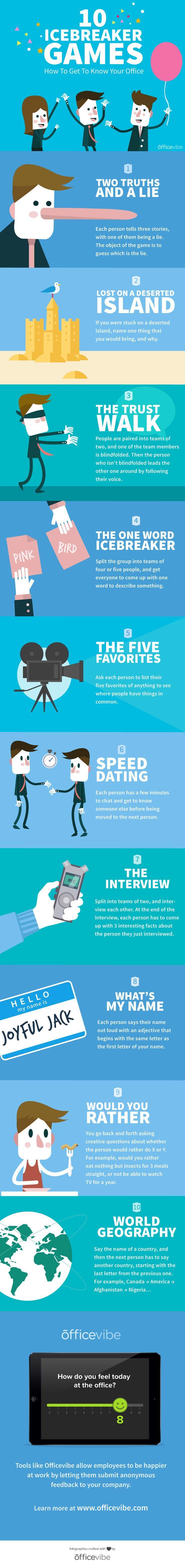 Speed dating icebreaker games